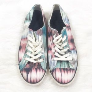 Also watercolor sneakers size 9